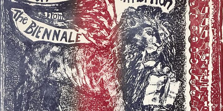 Rudy Pozzatti, The American Exhibition (Sheldon Poster), lithograph, 1969