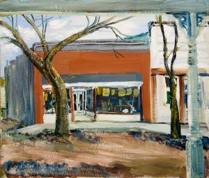 Elizabeth Turnbull, Village Street, oil on board, n.d.
