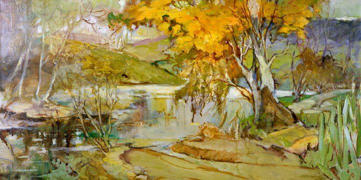 Elizabeth Honor Dolan, October Gold, oil on canvas, 1933