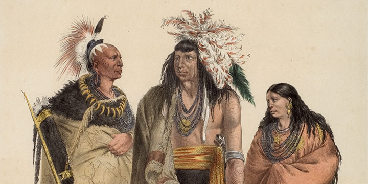 George Catlin, Catlin's North American Indian Portfolio, North American Indians, lithograph, c. 1844