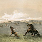 George Catlin, Catlin's North American Indian Portfolio, Catching The Wild Horse, lithograph, c. 1844
