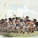 George Catlin, Catlin's North American Indian Portfolio, Buffalo Dance, lithograph, c. 1844