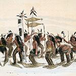 George Catlin, Catlin's North American Indian Portfolio, The Snow-Shoe Dance, lithograph, c. 1844