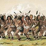 George Catlin, Catlin's North American Indian Portfolio, The Bear Dance, lithograph, c. 1844