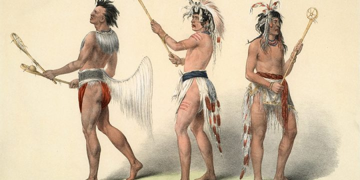 George Catlin, Catlin's North American Indian Portfolio, Ball Players, lithograph, c. 1844