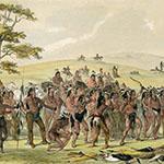 George Catlin, Catlin's North American Indian Portfolio, Archery of the Mandans, lithograph, c. 1844