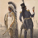 George Catlin, Catlin's North American Indian Portfolio, Wi-Jun-Jon (An Assinneboin Chief, going to Washington and returning to his home), lithograph, c. 1844
