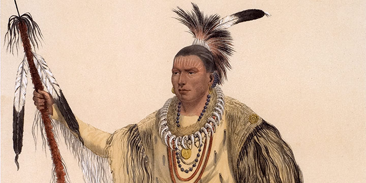 George Catlin, Catlin's North American Indian Portfolio, Joc-O-Sot (The Walking Bear, A Sauk Chief from the Upper Missouri, U.S.Am.), lithograph, c. 1844