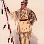 George Catlin, Catlin's North American Indian Portfolio, Joc-O-Sot (The Walking Bear, A Sauk Chief from the Upper Missouri, U.S.Am.), lithograph, c. 1844