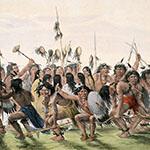 George Catlin, Catlin's North American Indian Portfolio, The Scalp Dance, lithograph, c. 1844