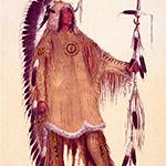 George Catlin, Catlin's North American Indian Portfolio, Mah-To-Toh-Pa (The Mandan Chief) , lithograph, c. 1844