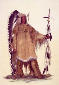 George Catlin, Catlin's North American Indian Portfolio, Mah-To-Toh-Pa (The Mandan Chief) , lithograph, c. 1844