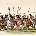 George Catlin, Catlin's North American Indian Portfolio, The War Dance, lithograph, c. 1844