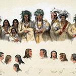 George Catlin, Catlin's North American Indian Portfolio, O-Jib-Be-Ways, lithograph, c. 1844