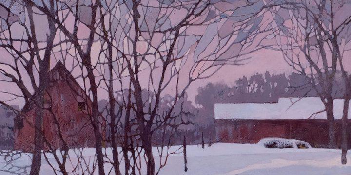 Judy Greff, Sammy's Barn, polymer on board, c. 1980