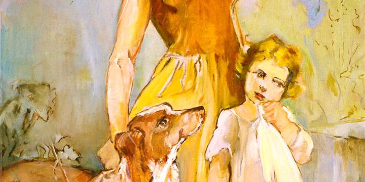 Elizabeth Honor Dolan, Untitled (Spirit of the Prairie sketch), oil on canvas, c. 1930