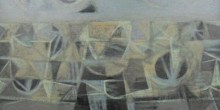 LeRoy K. Burket, Landstrip, oil, 1954