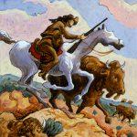 Thomas Hart Benton, Buffalo Hunter, gouache, ink, 1945