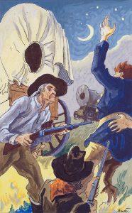 Thomas Hart Benton, Confrontation, gouache, ink, 1945
