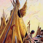 Thomas Hart Benton, Feeding the Trappers gouache, ink, 1945