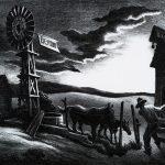 Thomas Hart Benton, Nebraska Evening, lithograph, n.d.