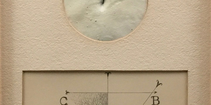 Nick Chiburis, Navel with Equations, mixed media, 1982