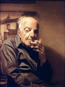 Paul Otero, Portrait of Leonard Thiessen, oil on canvas, 1980