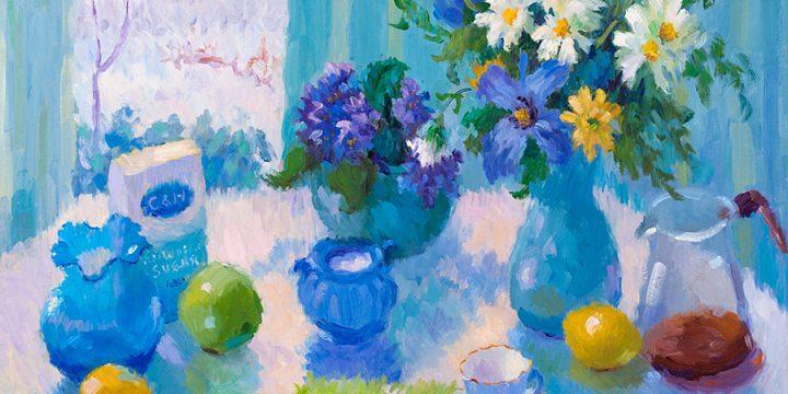 Ann Covalciuc, April Bouquet, oil on canvas, c. 1989