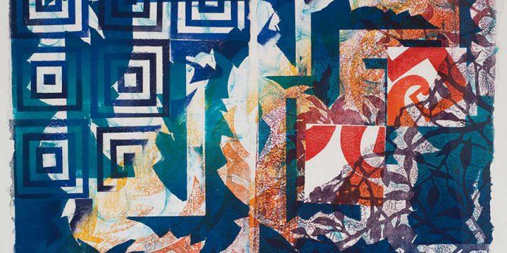 Nancy Childs, Changing Patterns X, monoprint, 1995