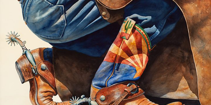 Nelson Boren, Boots Made in Arizona,  watercolor, n.d.