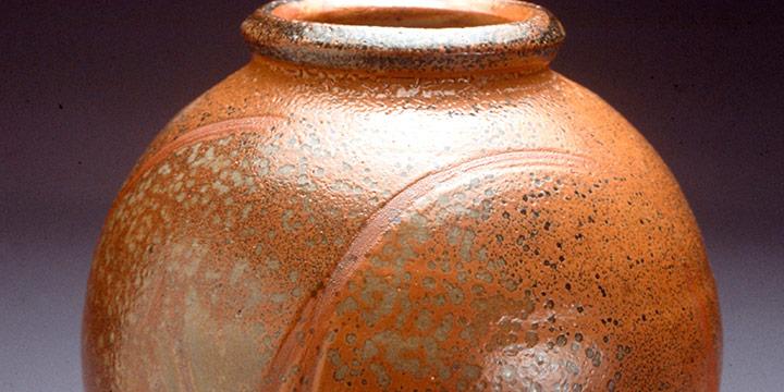 Dirk Gillespie, Jar, stoneware, shino type glaze, n.d.