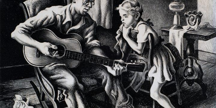 Thomas Hart Benton, The Music Lesson, lithograph, n.d.