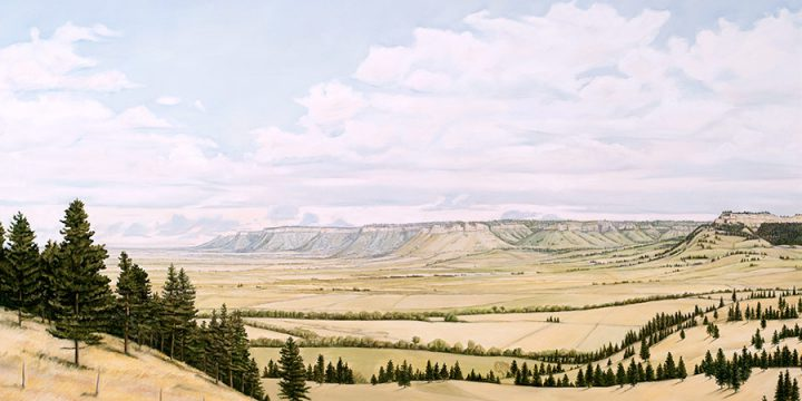 Anne Burkholder, Horizon 486, Warbonnet Canyon, oil on canvas, 1986