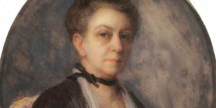 Eulabee Dix, Portrait of the Artist's Mother, Mary, watercolor on ivory, 1922