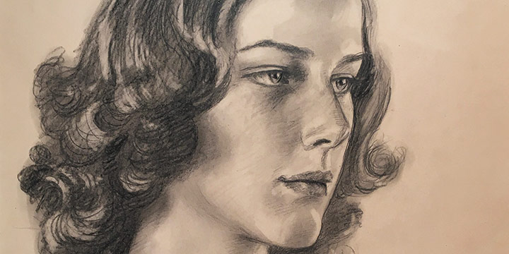 Paul Swan, Eleanor Anderson, graphite, 1938