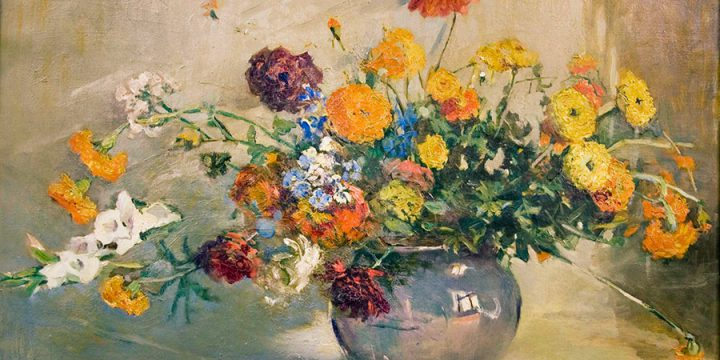 Elizabeth Honor Dolan, Floral Still Life, oil on canvas, n.d.