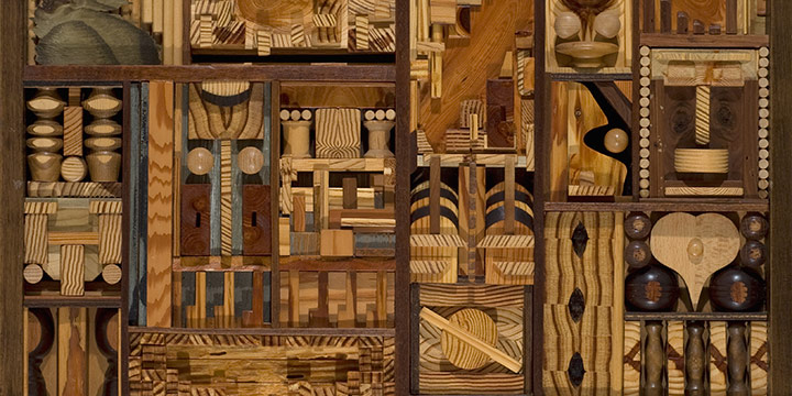 Dale Bergantze, The Goose, wood assemblage, 2006