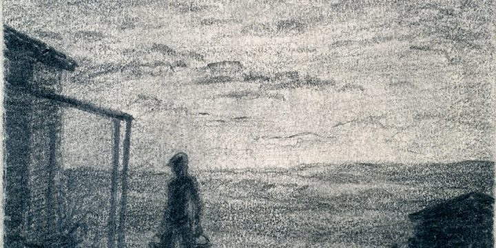 Lyman Byxbe, Chores (study sketch for Man's Work is from Sun to Sun), graphite on paper, n.d.