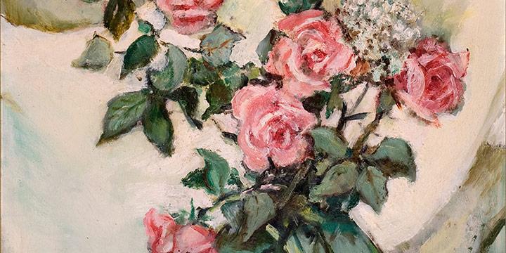 Elizabeth Honor Dolan, Untitled (roses), oil on board, n.d.