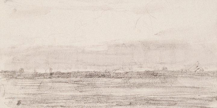 Enrique Martinez Celaya, The Nebraska Suite, No. 3, graphite on paper, 2010