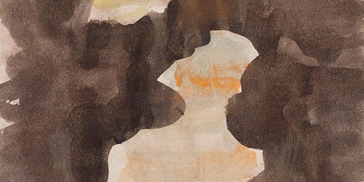 Enrique Martinez Celaya, The Nebraska Suite, No. 9, watercolor on paper, 2010
