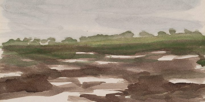 Enrique Martinez Celaya, The Nebraska Suite, No. 10, watercolor on paper, 2010
