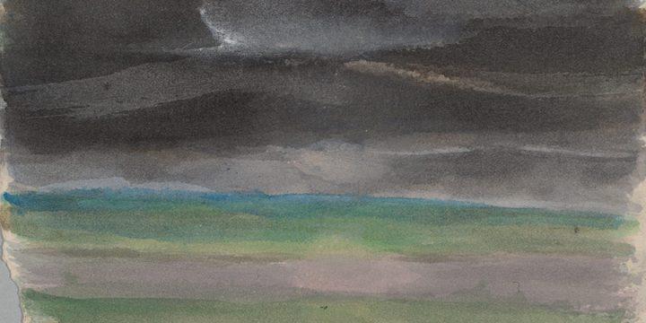Enrique Martinez Celaya, The Nebraska Suite, No. 11, watercolor on paper, 2010