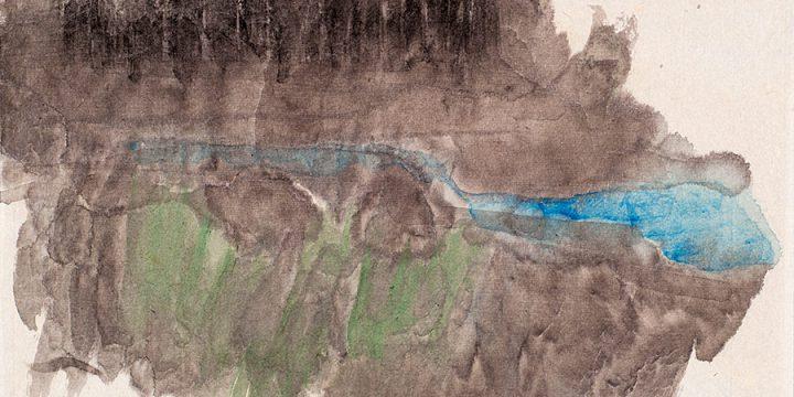 Enrique Martinez Celaya, The Nebraska Suite, No. 13, graphite, watercolor on paper, 2010