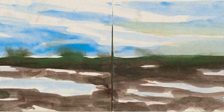 Enrique Martinez Celaya, The Nebraska Suite, No. 14, watercolor on paper, 2010