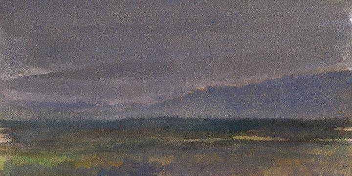 Enrique Martinez Celaya, The Nebraska Suite, No. 15, watercolor on paper, 2010