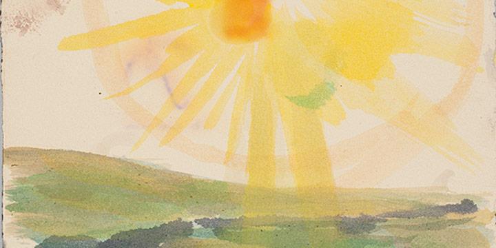 Enrique Martinez Celaya, The Nebraska Suite, No. 16, watercolor on paper, 2010