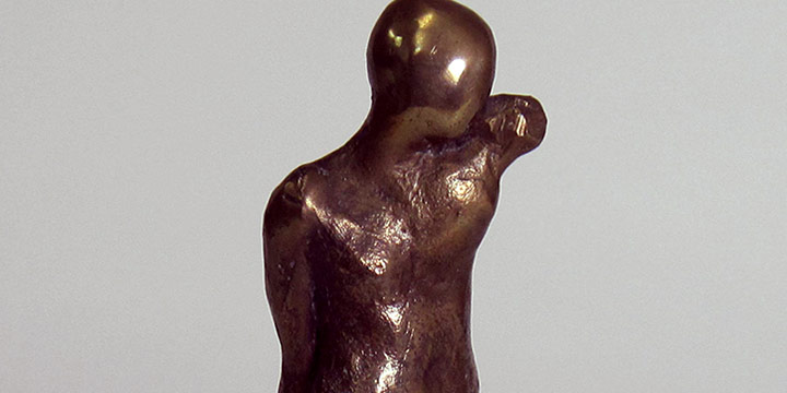 William C. (Bill) Farmer, Untitled (male maquette), bronze, n.d