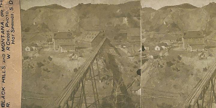 William R. Cross, The Homestake Gold Mine, Lead, S. D., stereoview, c. 1890s