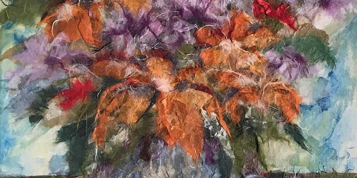 Grace Hanft, Lavender Bouquet, collage, 2011